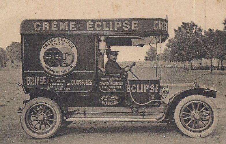 Crème Éclipse y aquellos vehículos comerciales de principios del siglo XX #mccanncuidalapublicidad #publicidadantigua