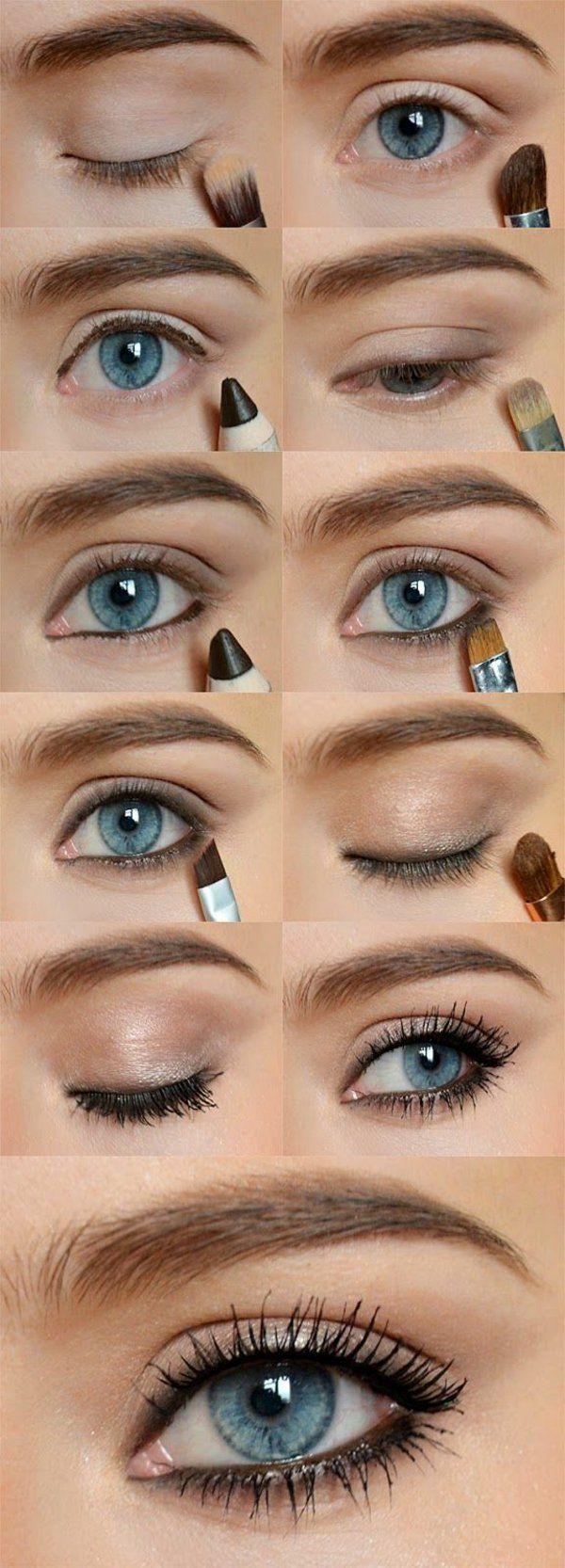 Augen Make Up Schritt für Schritt - so schminken Sie Ihre Augen größer #beautyhacks