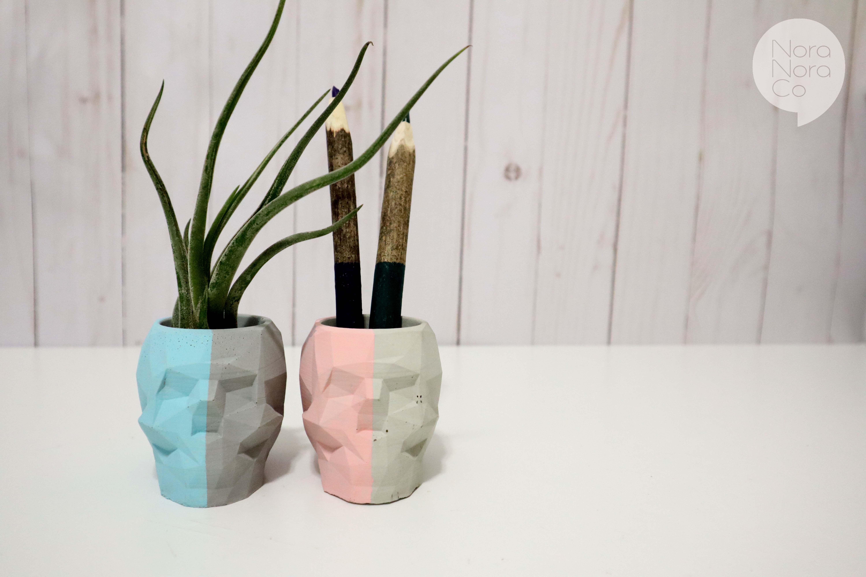Concrete Artisan's Handmade Personalized Gift Skull