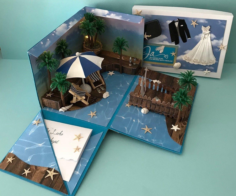 eine explosionsbox als geschenk f r eine hochzeit handgemachtes unikat beach wedding. Black Bedroom Furniture Sets. Home Design Ideas