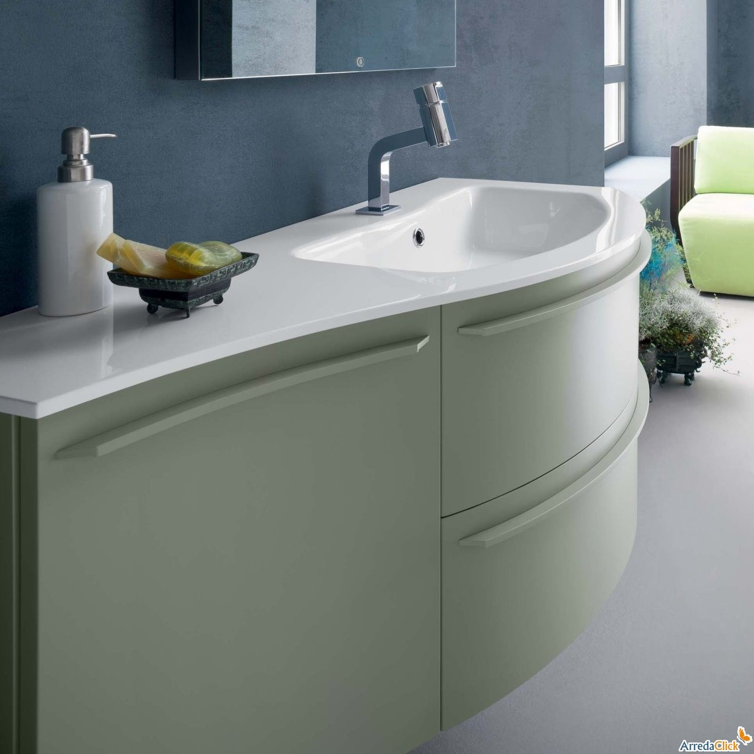 Mobile bagno curvo sospeso n12 atlantic arredaclick bathroom ideas pinterest long - Mobile bagno curvo ...