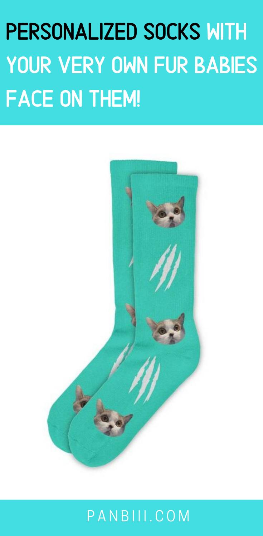 FurbabySocksCustomWhiteCatSocks Cat socks, Custom