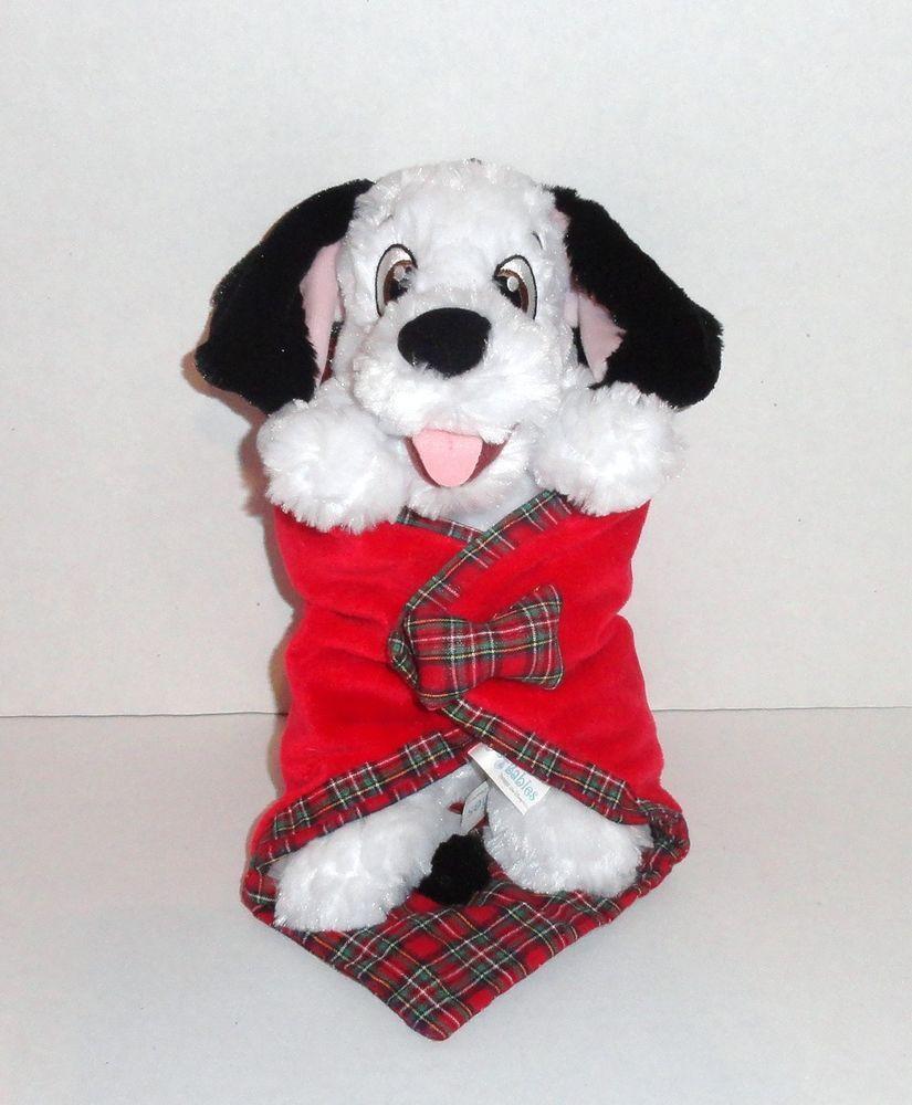 Disney Babies 101 Dalmatians Plush Baby Dalmatian Dog With Security Blanket Disney Stuffed Animals Animal Plush Toys Disney Blanket