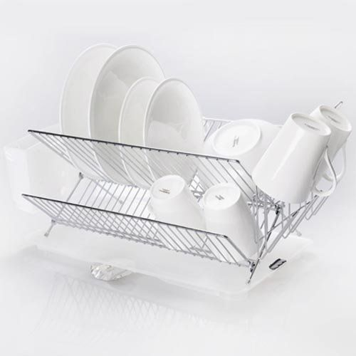 Sakura Compact Folding Dish Rack Kitchenware Dish Drying Rack
