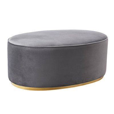 Mercer41 Labbe Cocktail Ottoman Upholstery Color Gray Cocktail
