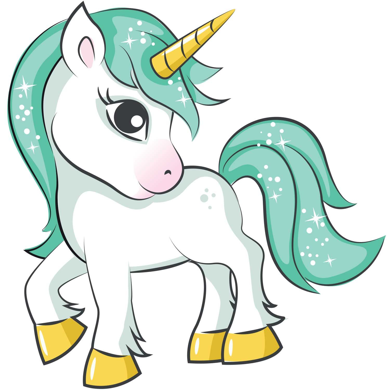 Green Hair Unicorn Iron On Transfer