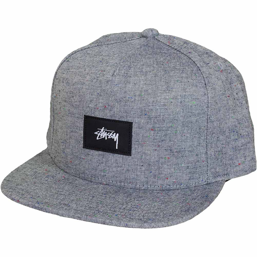 c816982913b Stüssy Snapback Cap Speckled Melange schwarz