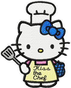 Hello Kitty Chef machine embroidery design
