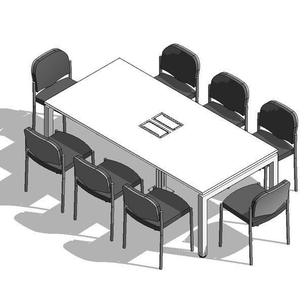 producto mesa reuniones nova 60 electrificable 8 personas