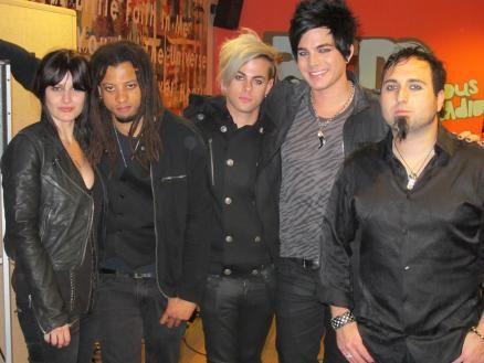 Adam Lambert and band