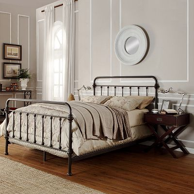 HomeVance Alaina 3 pc  Queen Headboard  Footboard and Frame Set     Queen Headboard  Footboard   Frame Set