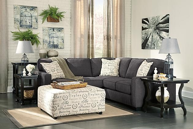 The Aleya Charcoal Sofa Will Blend Into Any Home Environment