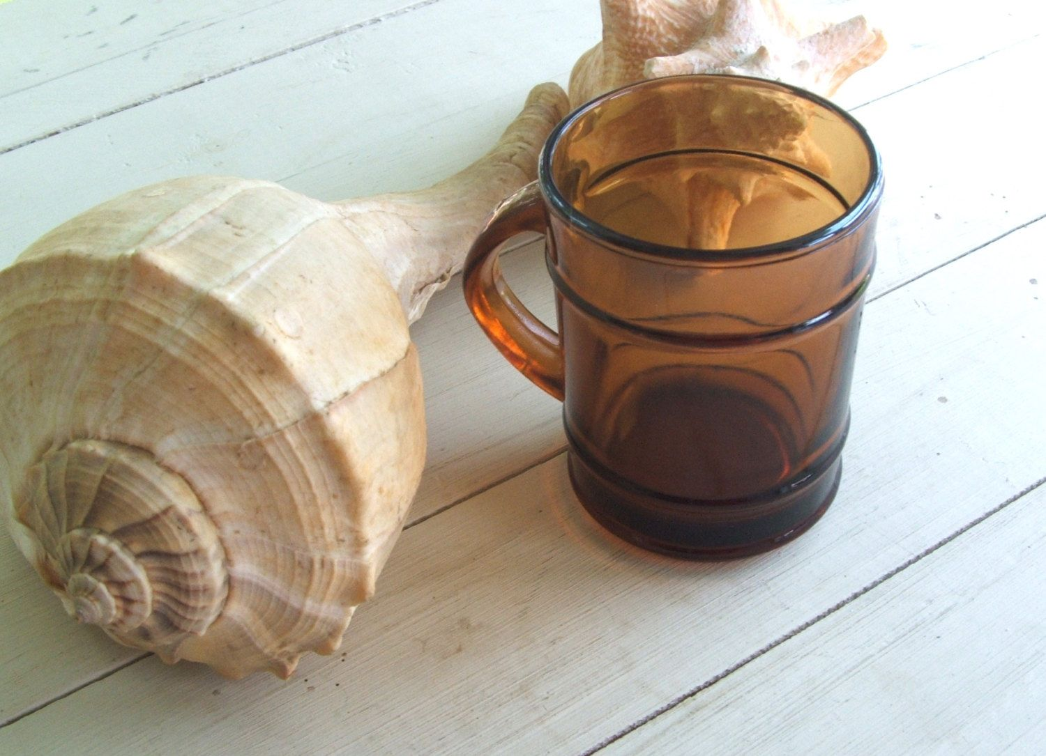 Vintage Brown Glass Mug Anchor Hocking Mocha Root Beer (total of 3 are available) by lookonmytreasures on Etsy