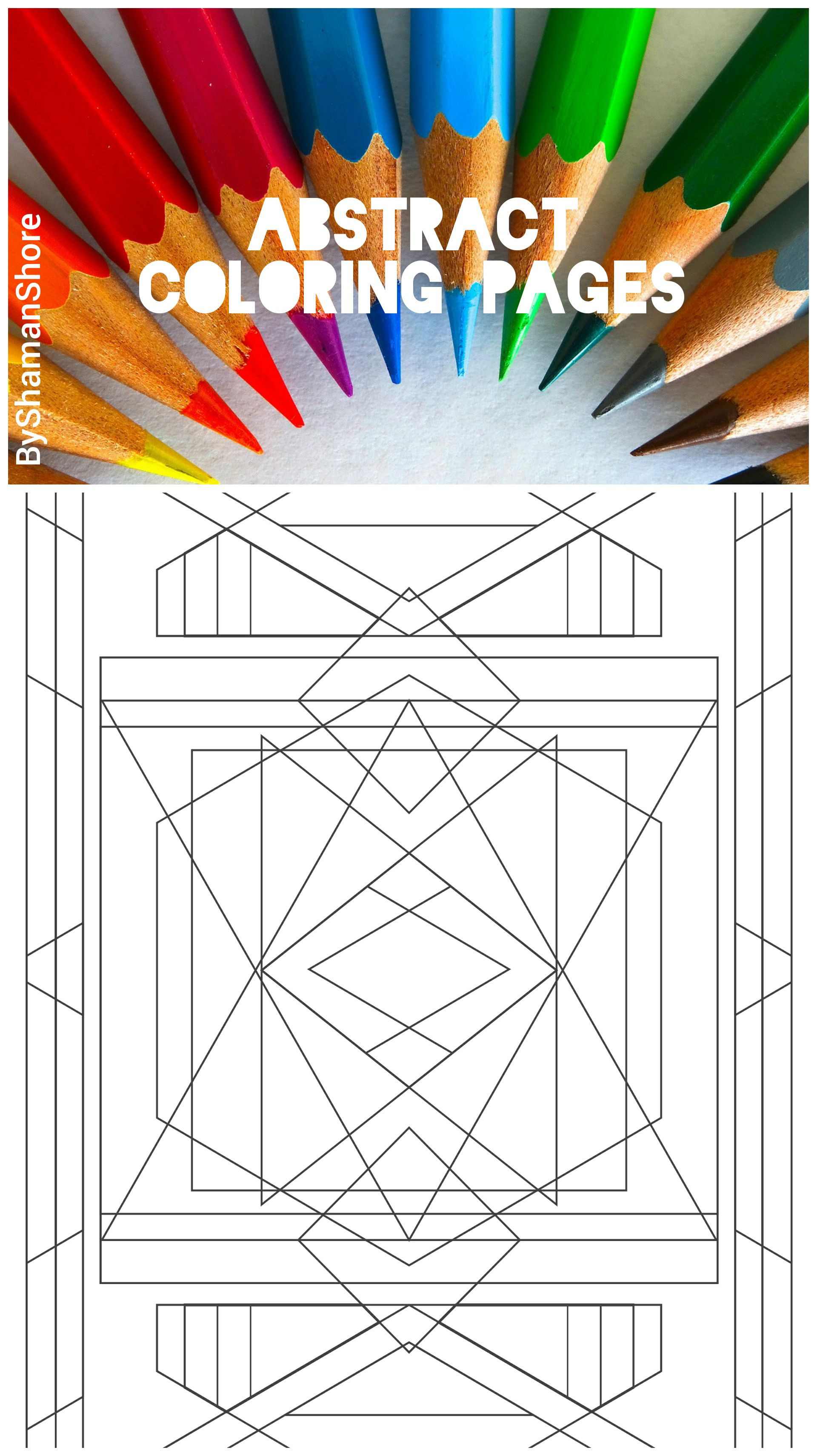 Abstract Coloring Pages For Grown Ups Printable Adult