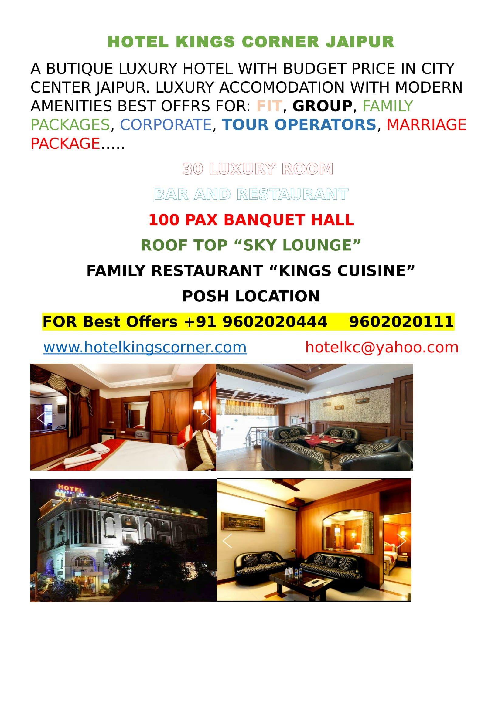 Pin By Hotel Kings On Hotel Kings Corner Jaipur Hotel King