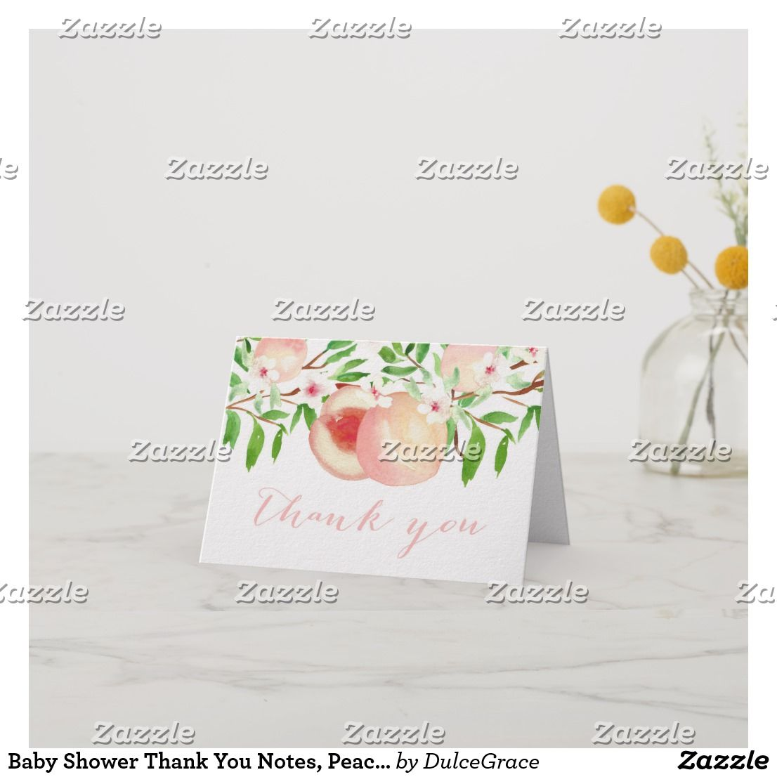 baby shower thank you notes peach orchard