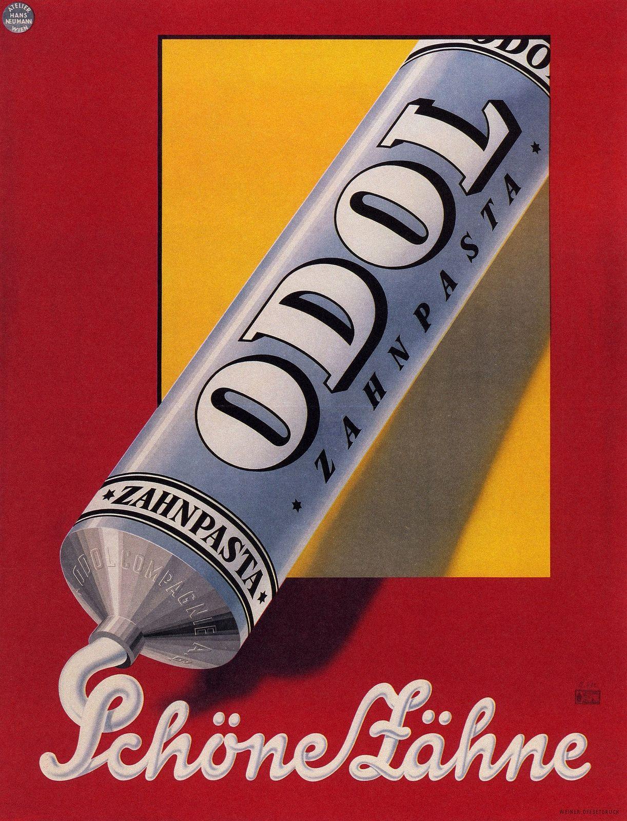 Odol Zahnpasta VINTAGE AD POSTER Austria 1925 24X36 Retro Prized Cool