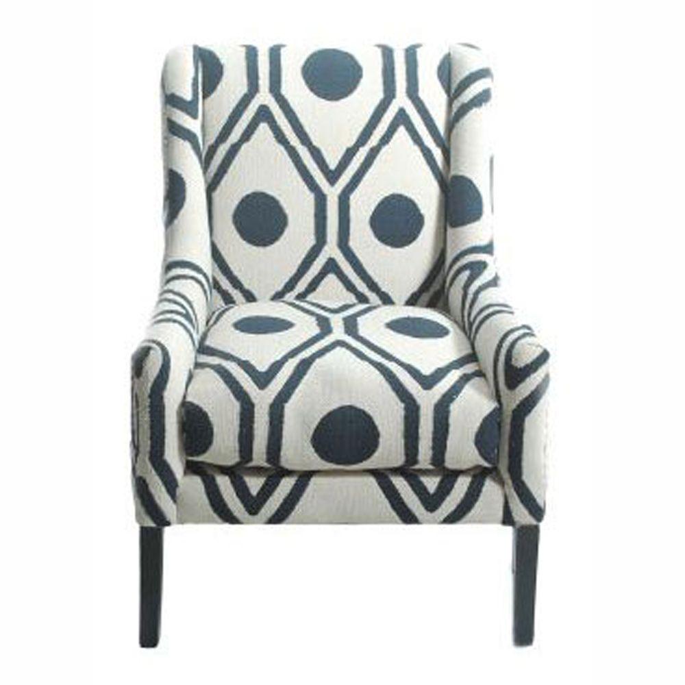 Rollins Modern Arm Chair Blue: NuLOOM Contemporary Trellis Cotton Blue Accent Arm Chair