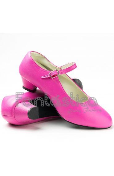 2e0243533b39a Zapatos para Flamenco Color Fucsia - Tallas para Niña y Mujer Zapatos  Españoles