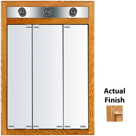 Lowes Medicine Cabinets With Lights Classy Kraftmaid 24In X 35In Lighted Oak Surface Mount Medicine Cabinet 2018