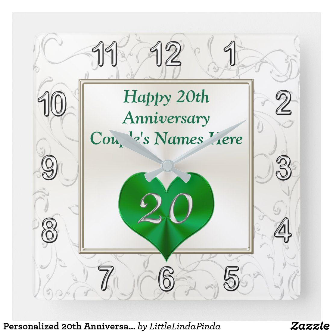 Personalized 20th Anniversary Gifts, 20th Birthday Square