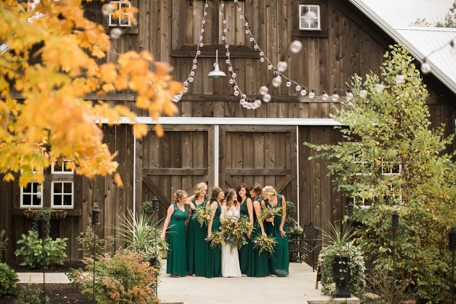 Indiana Autumn Barn Wedding Travel Photographer Destination Lace Off