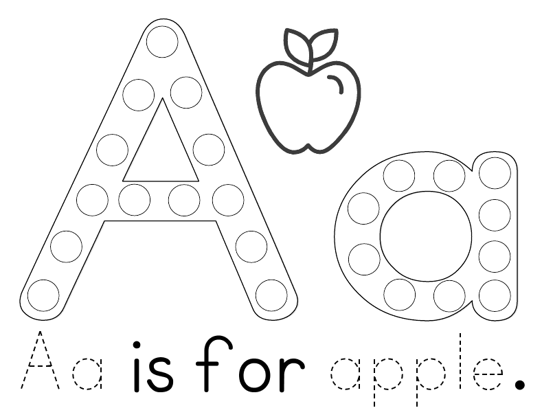 A Heart For Home: Free Printable: Aa is for Apple Tot & Preschool ...