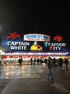Maine Avenue Fish Market On The Sw Waterfront Is Perfect For Summer Days And Winter Nights They Have Fresh Fish And Crab Legs Bes Crab Legs Crab Winter Night