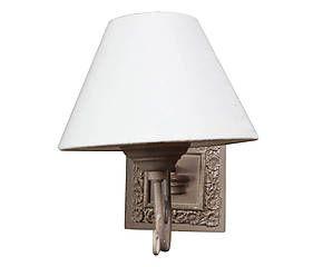 Applique in legno isabel bianco e grigio cm