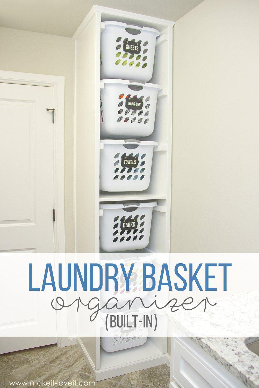Diy Laundry Basket Organizer Built In Laundry Basket