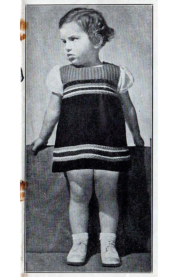 1930s Vintage Knitting Patterns For Children Australian Home Journal