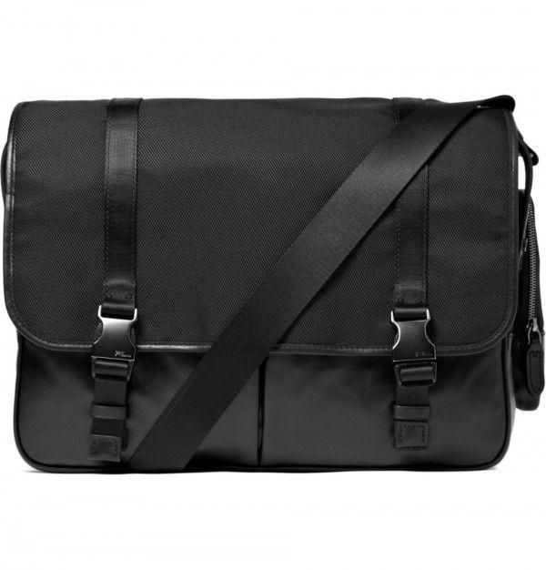 2c5df8b8e2ae Ralph Lauren Black Label Nylon and Leather Messenger Bag 1