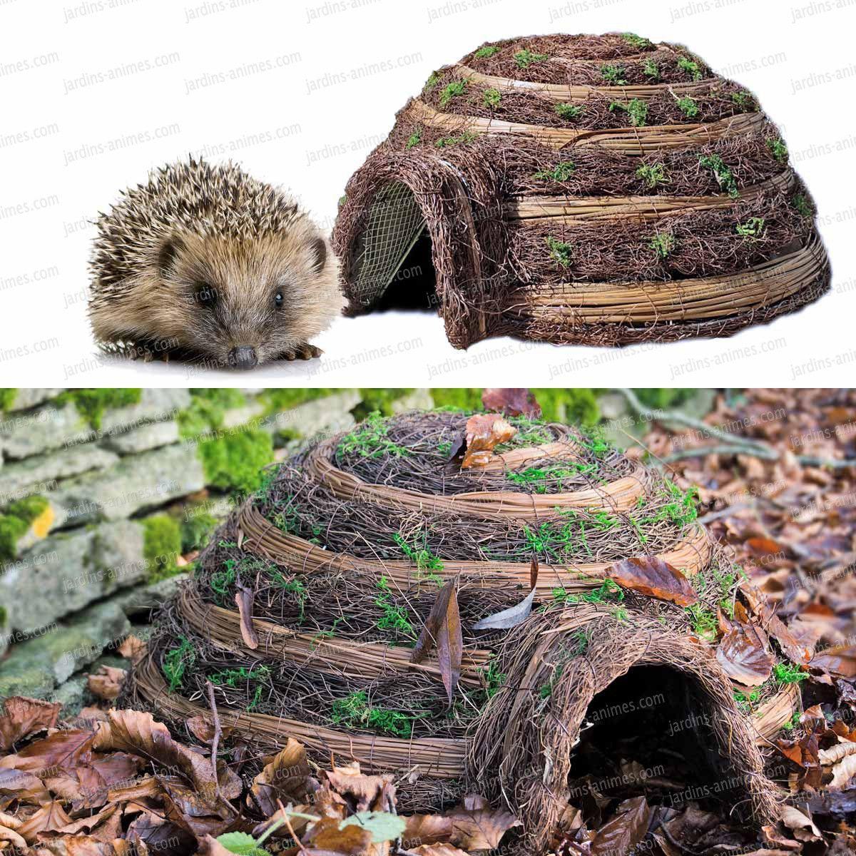 h risson maison abri maisons abris animaux deco jardin pinterest refuges feuilles. Black Bedroom Furniture Sets. Home Design Ideas