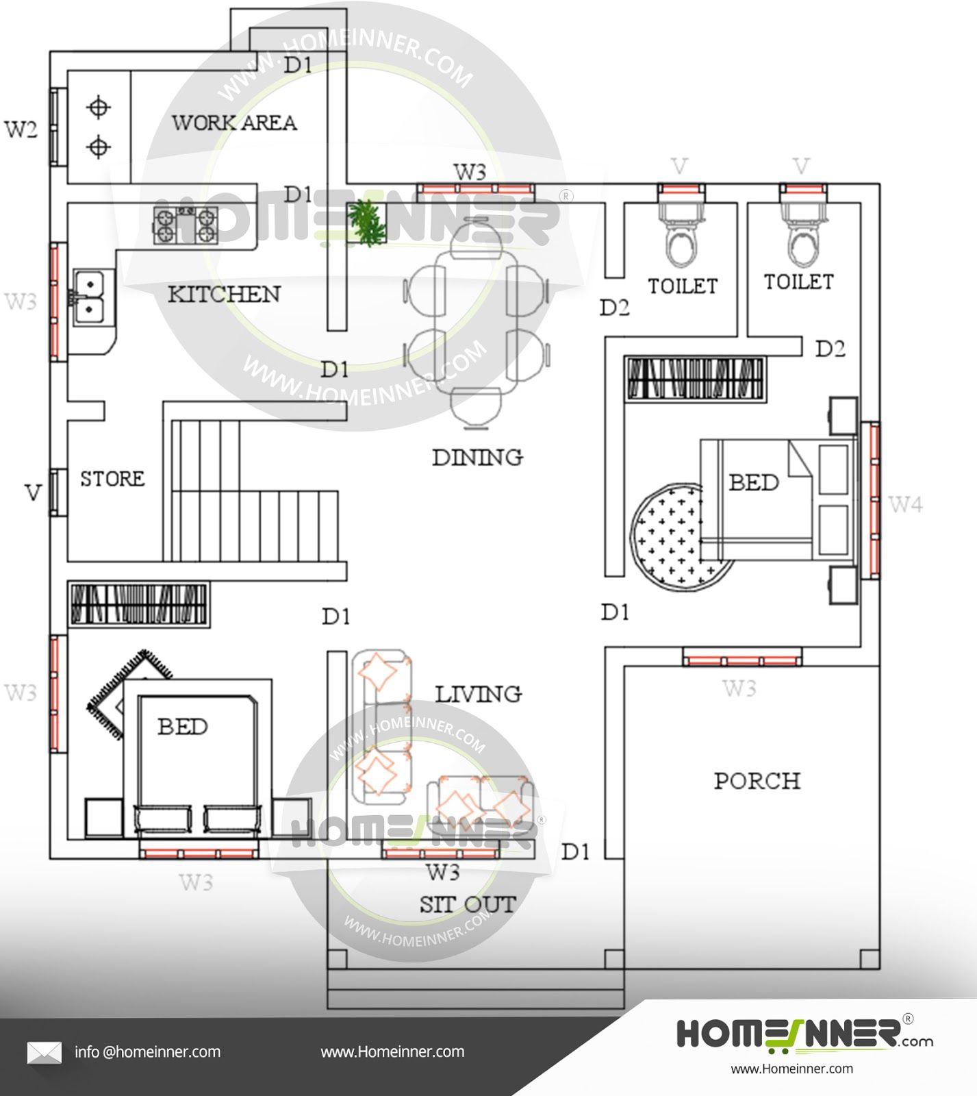 Kerala Home Design Single Floor Low Cost Plan