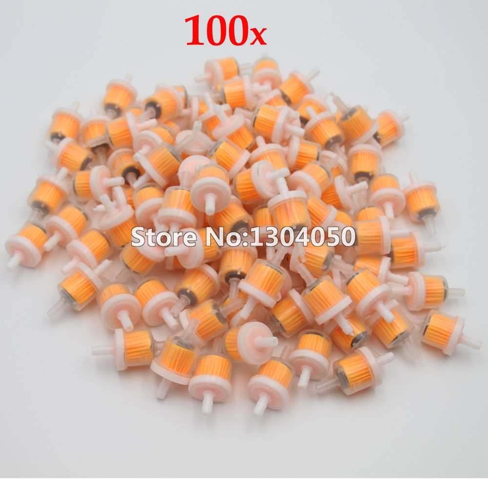 100PCS Small Engine Industrial Universal Bike Motorcycle Gas Filters Fuel  FILTE 6.5mm Plastic Inline Fuel Gasoline Filter NEW