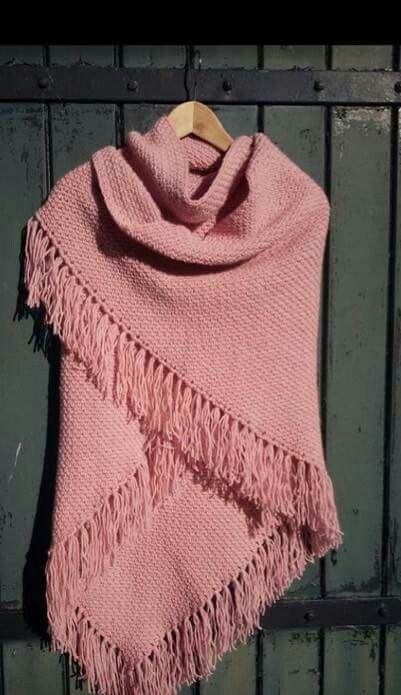 Omslagdoek Granietsteek Haken Crochet Crochet Shawl En Moss Stitch