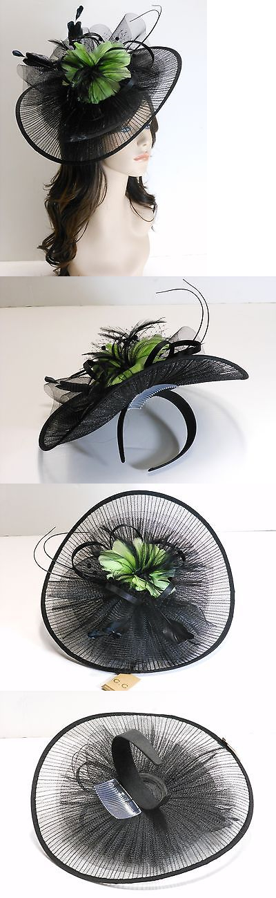 Womens Formal Hats 131476  New Church Derby Wedding Pleated Fascinator  Dress Hat Headband 2450 Black efc7a08817f2