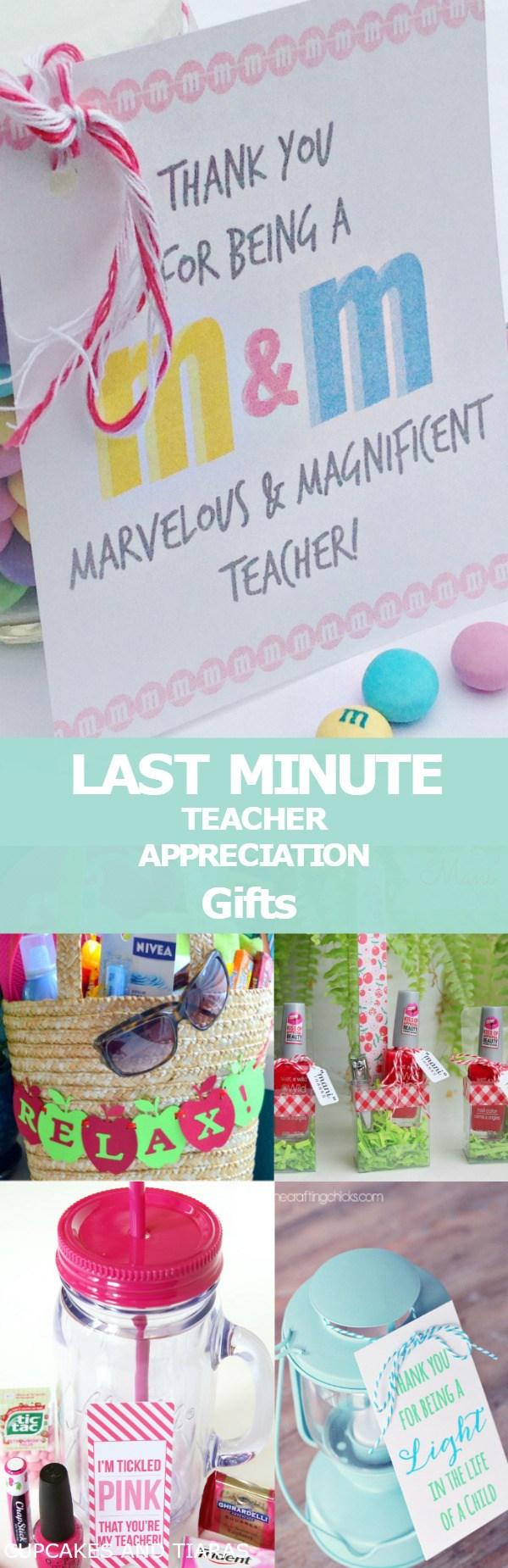 Last Minute Teacher Appreciation Gift Ideas Cupcakes And Tiaras Teacher Appreciation Gifts Appreciation Gifts Teacher Christmas Gifts