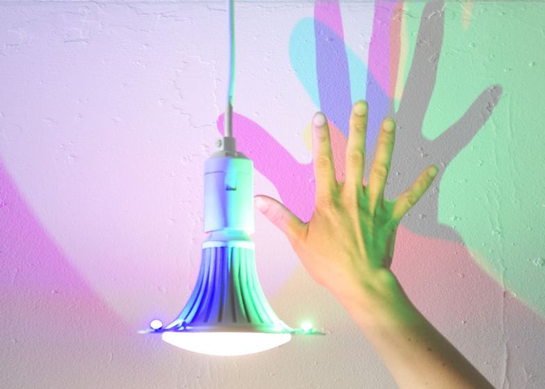I Can T Wait Until These Are In Stores And Affordable To Me So Cool Cmyk Light Bulb That Casts Coloured Shadows By Denn Colored Shadow Bulb Light And Shadow
