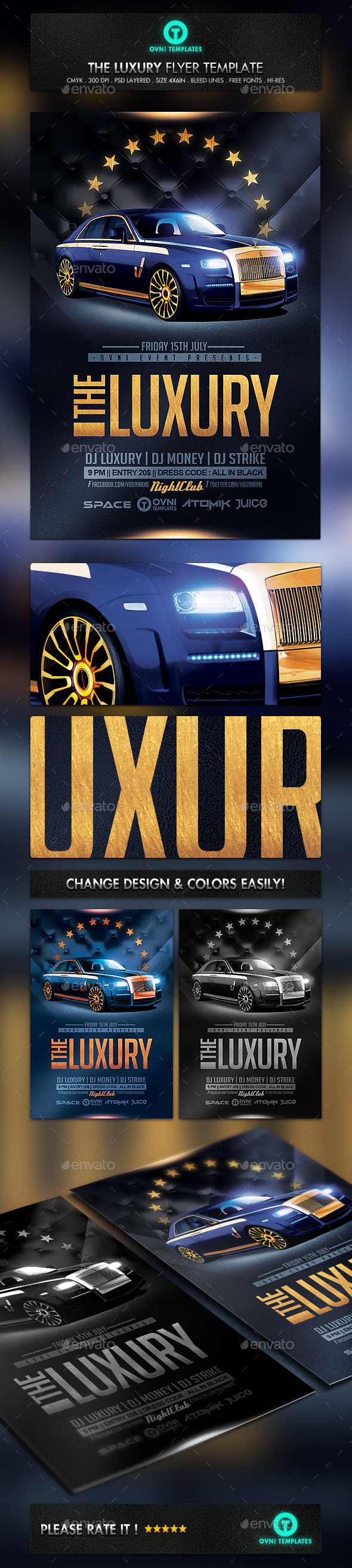 Luxury Car Gold Flyer Template Flyers Print Templates
