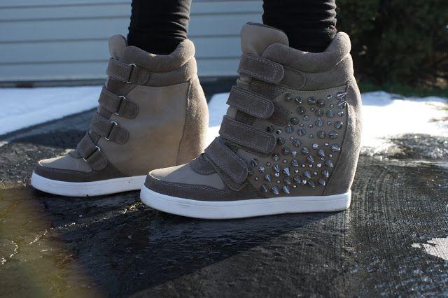 ohheychrisi  aldo wedge sneakers