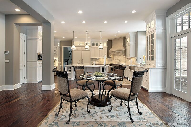 gray and white kitchen - must look past the boring rug and ...