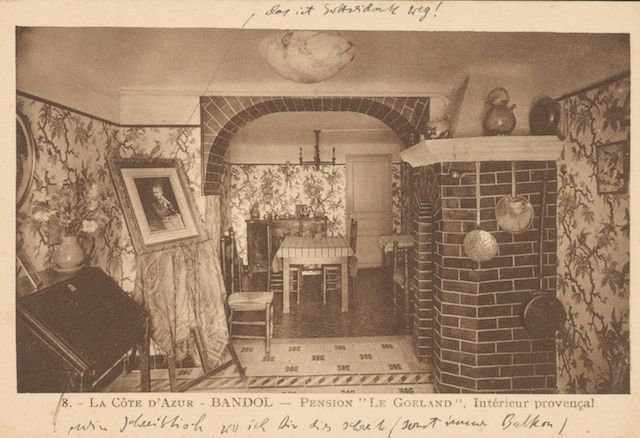 postcard from a pension in bandol southern france where mohr accompanied lawrence during his
