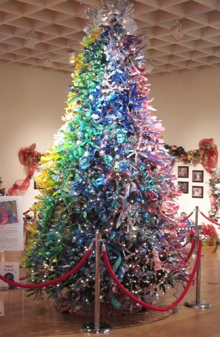 First place at the festival of trees orlando museum of for Christmas decorations from recycled plastic bottles
