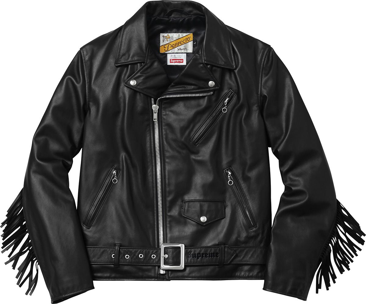 Supreme Supreme Schott Chief Tassel Perfecto Leather Jacket Jackets Clothes [ 995 x 1200 Pixel ]
