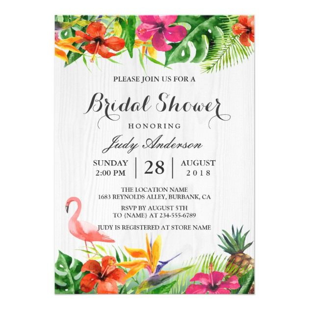 15 Tropical Bridal Shower Invitations to Love Shower invitations - Bridal Shower Invitations Template