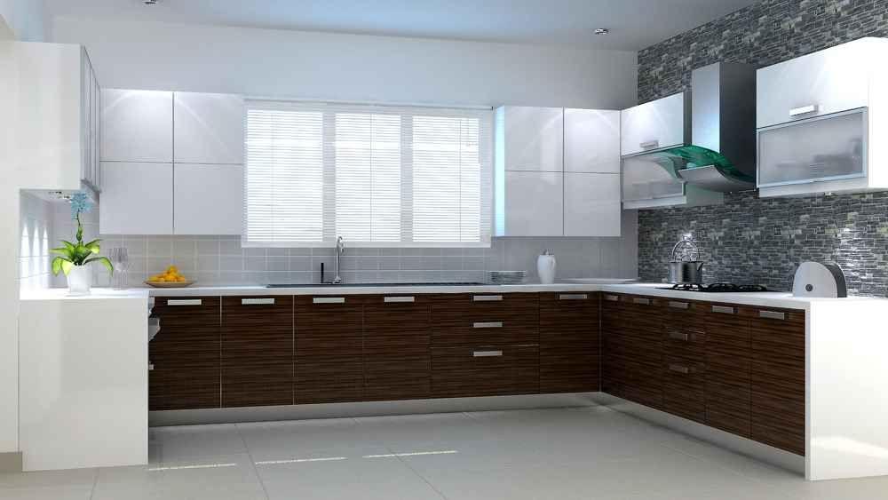 amazing kitchen with window blinds designed by saneeth sathian interior designer in thrissur on kitchen interior with window id=62028