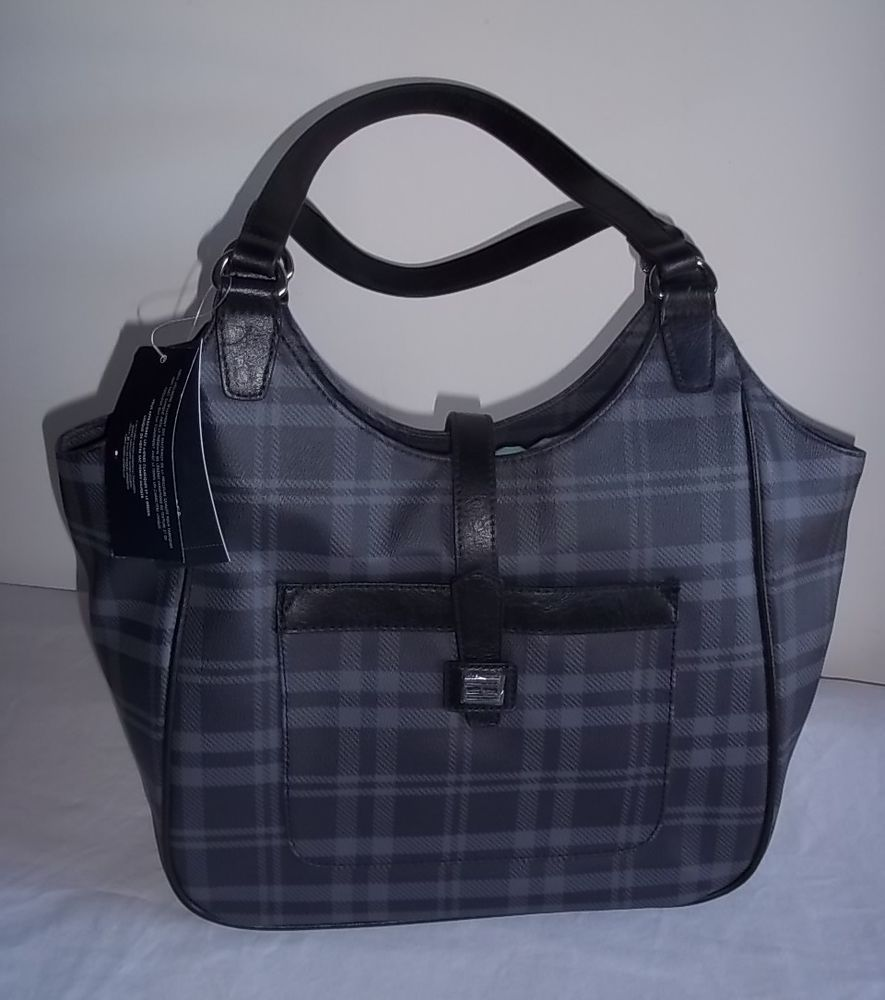 Tommy Hilfiger Black Gray Tote Shopper Shoulder Bag Purse NWT #TommyHilfiger #TotesShoppers