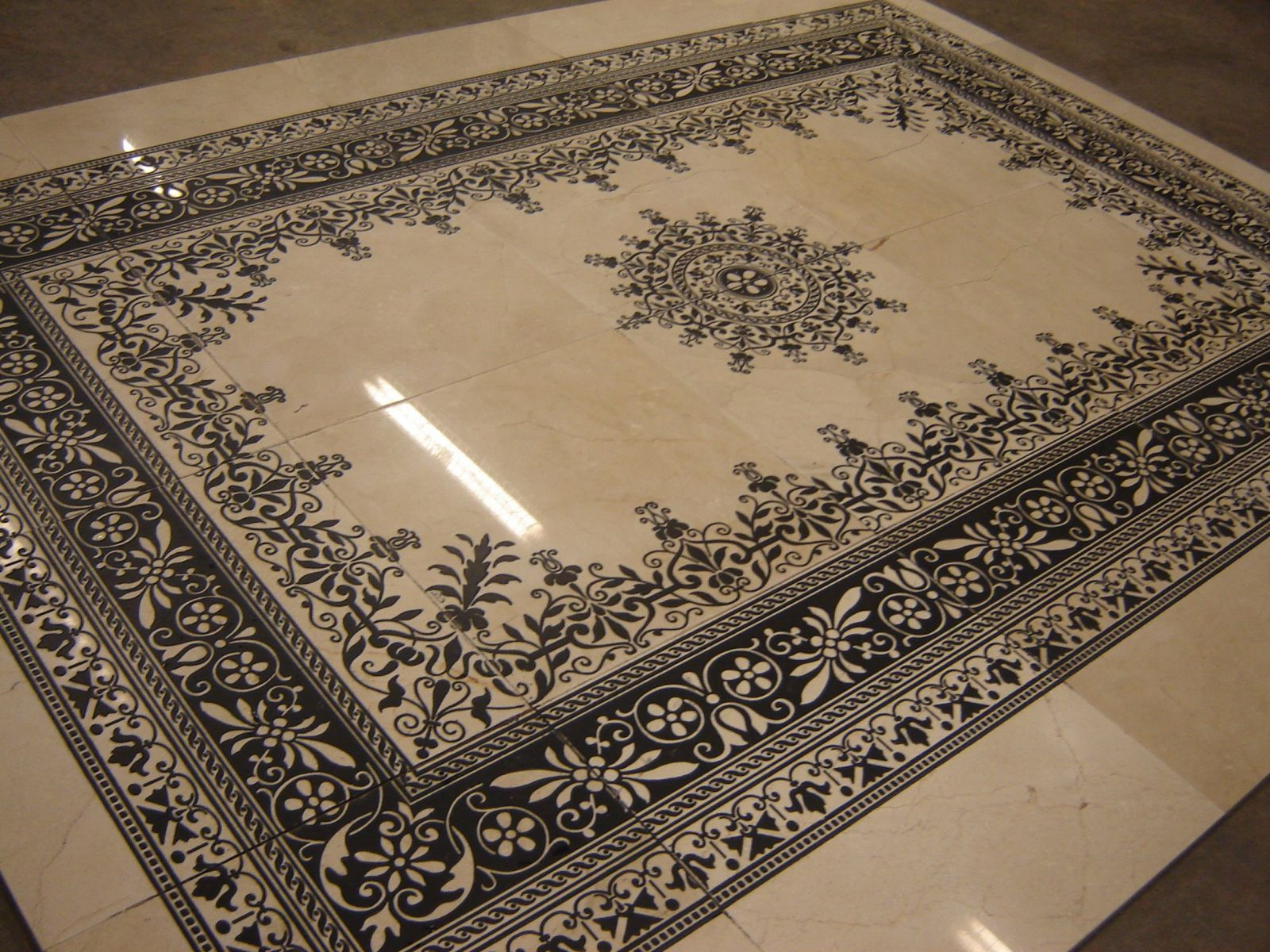 Marble Designs laser-islamic-design-on-white-marble- | // • ιsℓαмιc αяcнιтεcтυяε