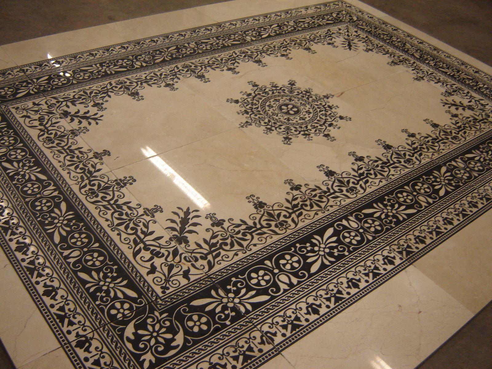 Marble Designs laser-islamic-design-on-white-marble-   // • ιsℓαмιc αяcнιтεcтυяε